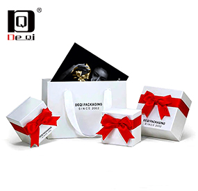 DEQI exquisite jewelry paper bag packaging gift box brand packaging box series