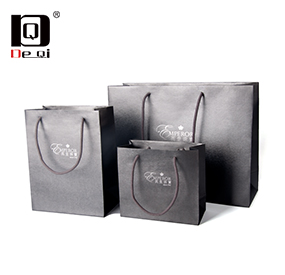 Deqi exquisite jewelry paper bag packaging gift box brand packaging bag series