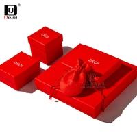 DEQI红色珠宝首饰纸袋包装礼品盒品牌包装盒系列