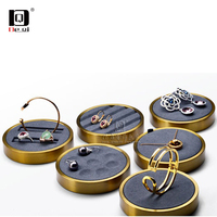DEQI展示架金属超纤戒指手镯项链陈列店用橱窗珠宝展示道具